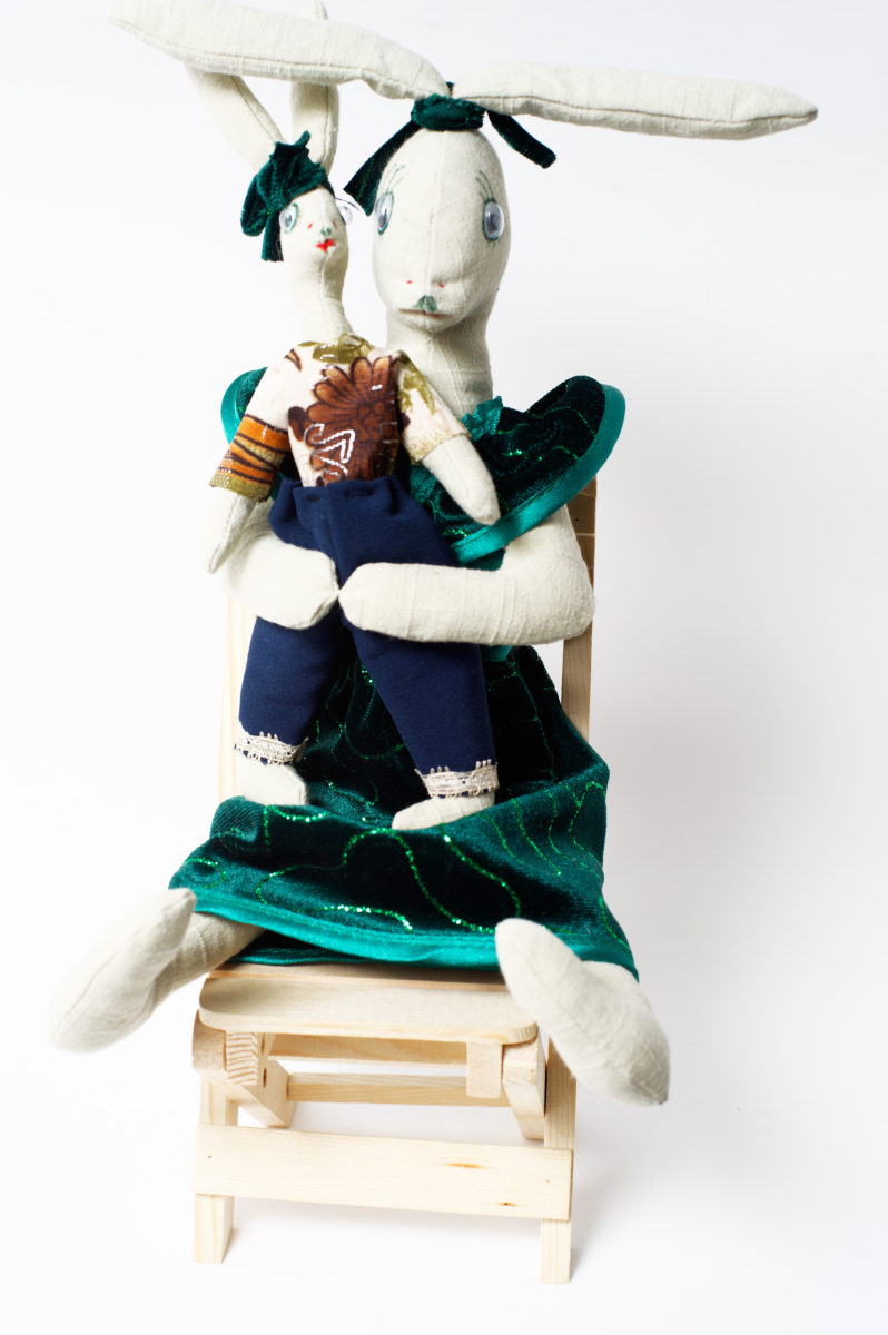 Зайка мама с зайчонком по супер цене