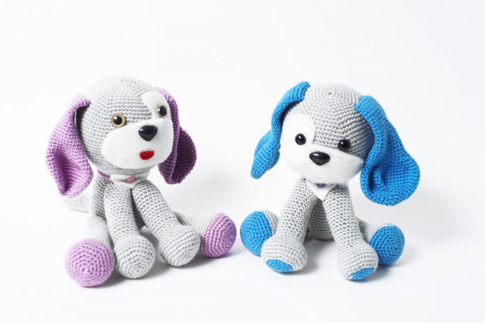 Собачка с  синими ушами (с розовыми нет)