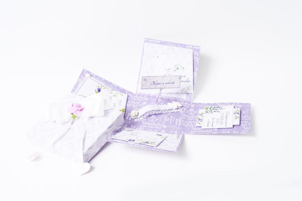 Открытка-коробочка «С Днем свадьбы»