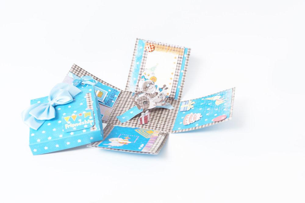Открытка-коробочка «С Днем рождения!»