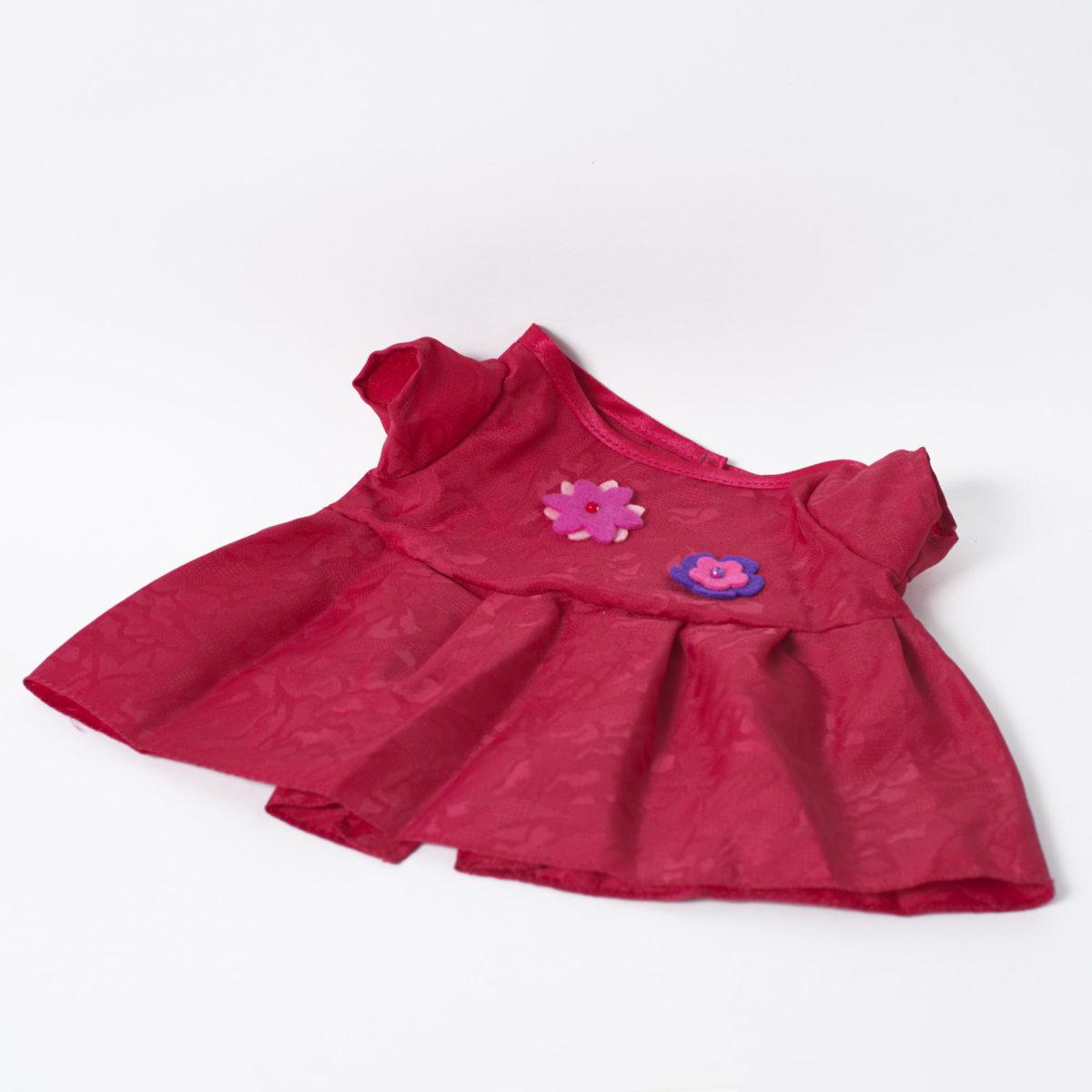 Платье красное с цветочками