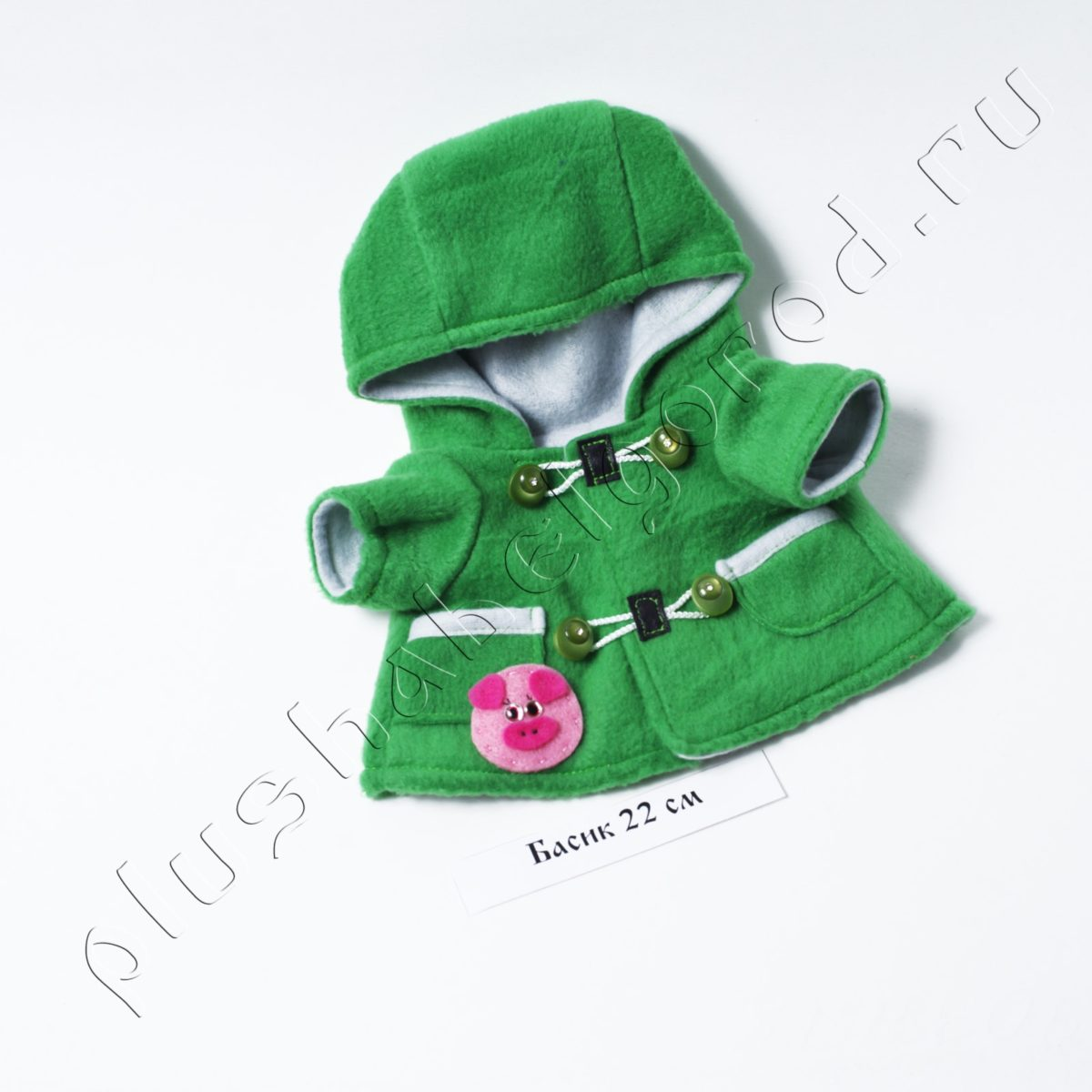 Пальто зеленое со свинкой