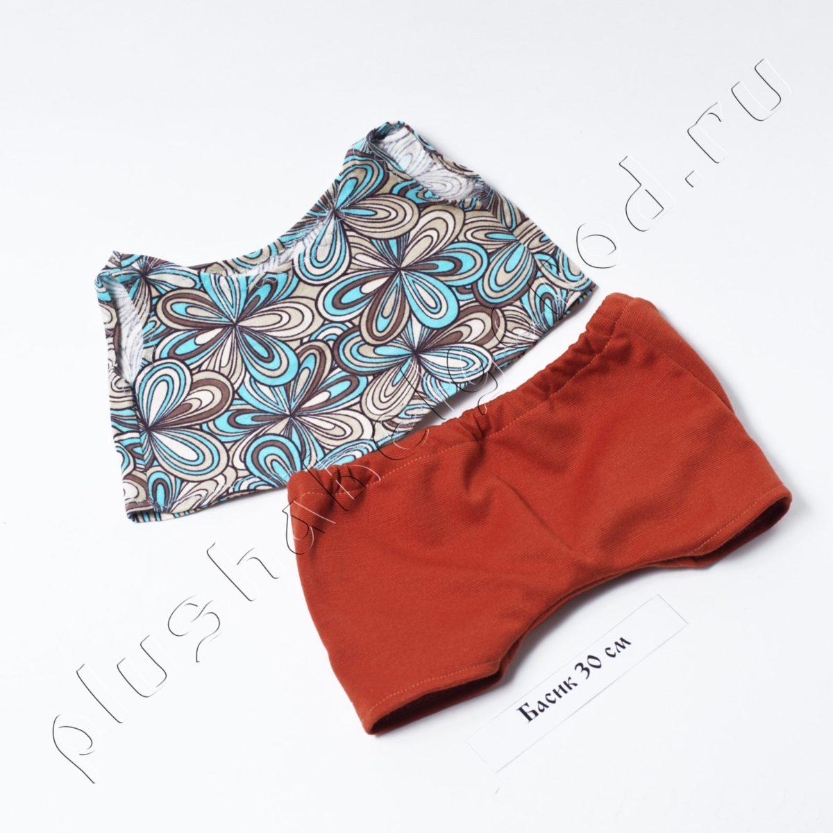 Майка и шорты красные