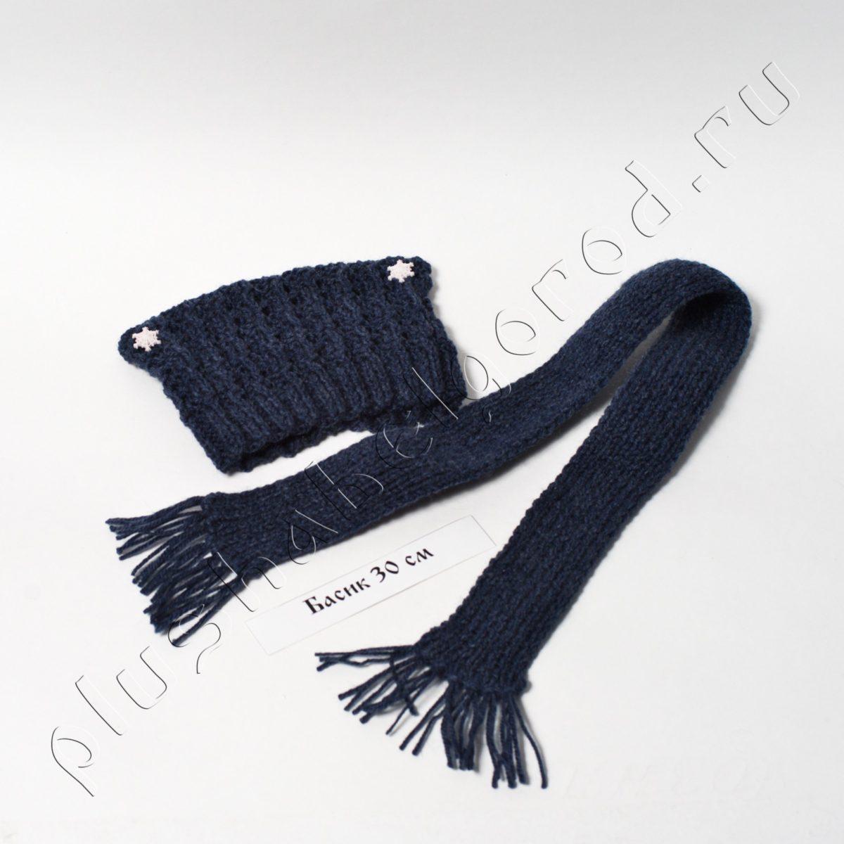 Шапочка и шарф (цвет джинс)