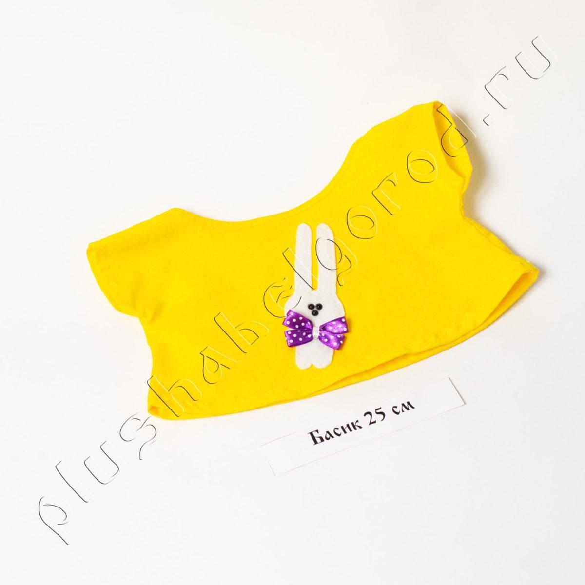 Футболка желтая с зайчиком(25)