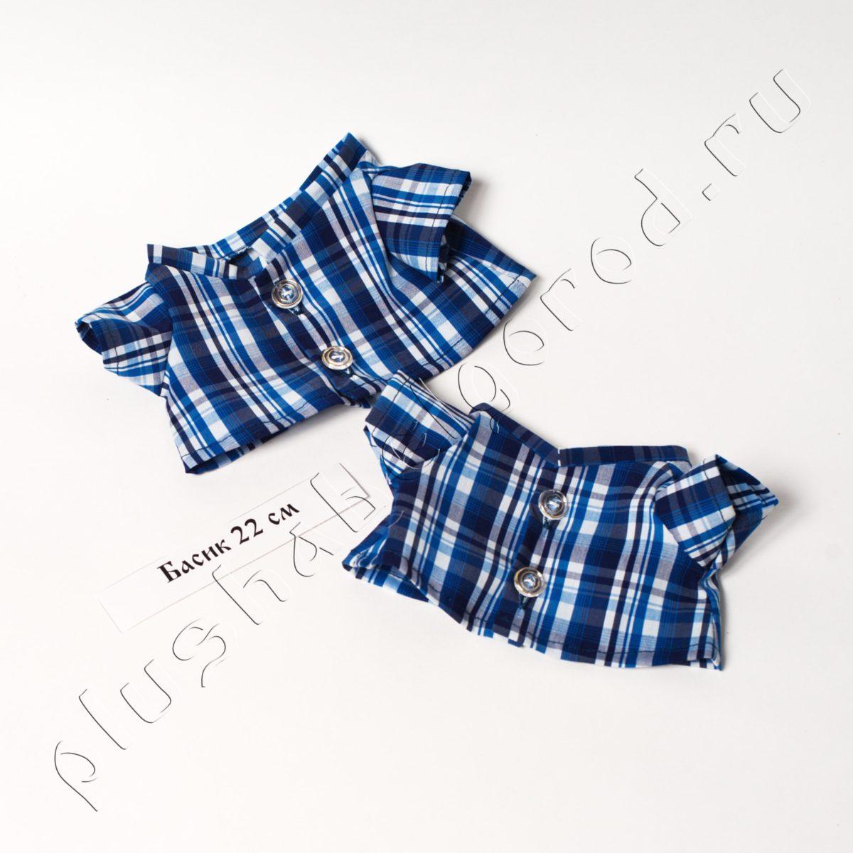 Рубашка синяя в клетку(22)