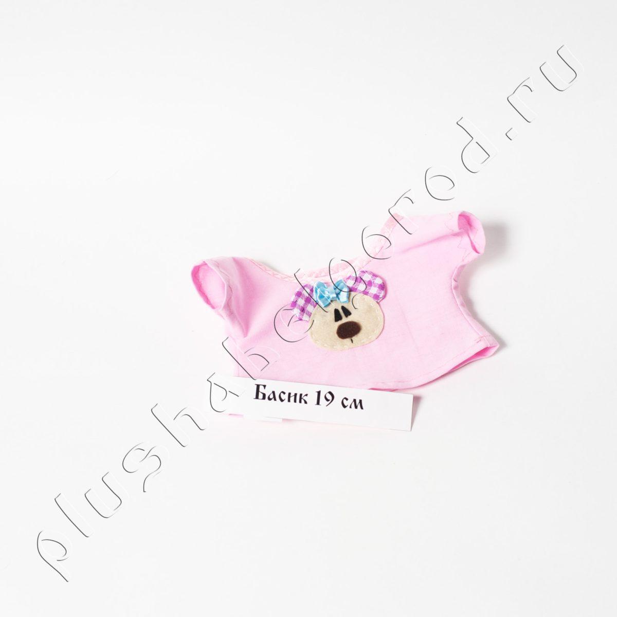 Футболка розовая с милым мишкой для 19 см