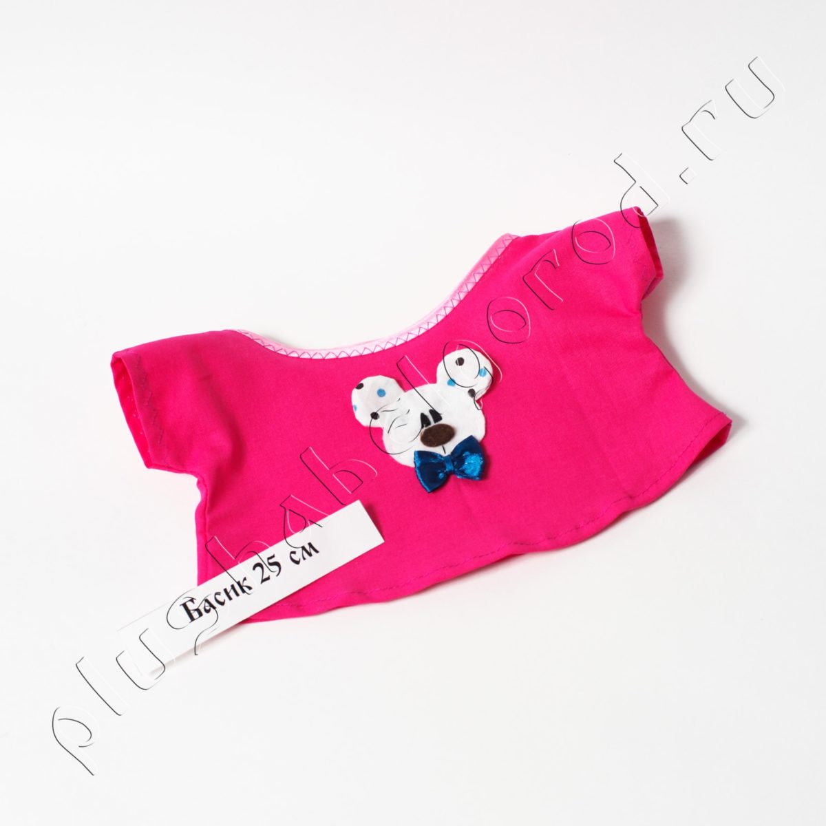 Футболка розовая с милым мишкой