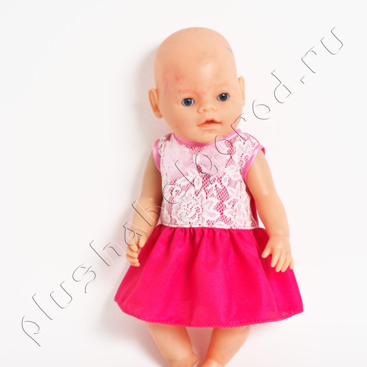 Розовое платье с бантиком