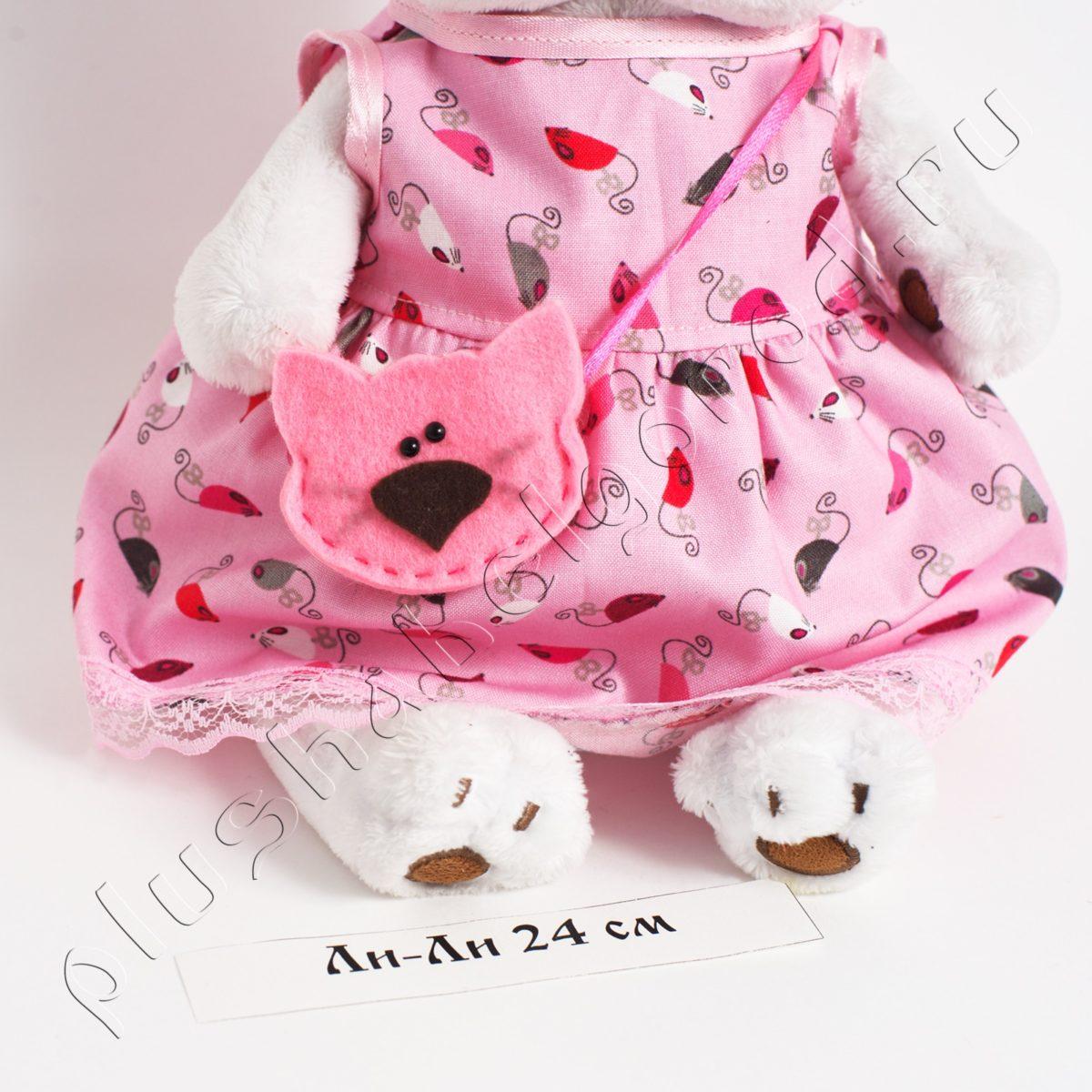 Платье с мышками, сумочка и бантик на голову