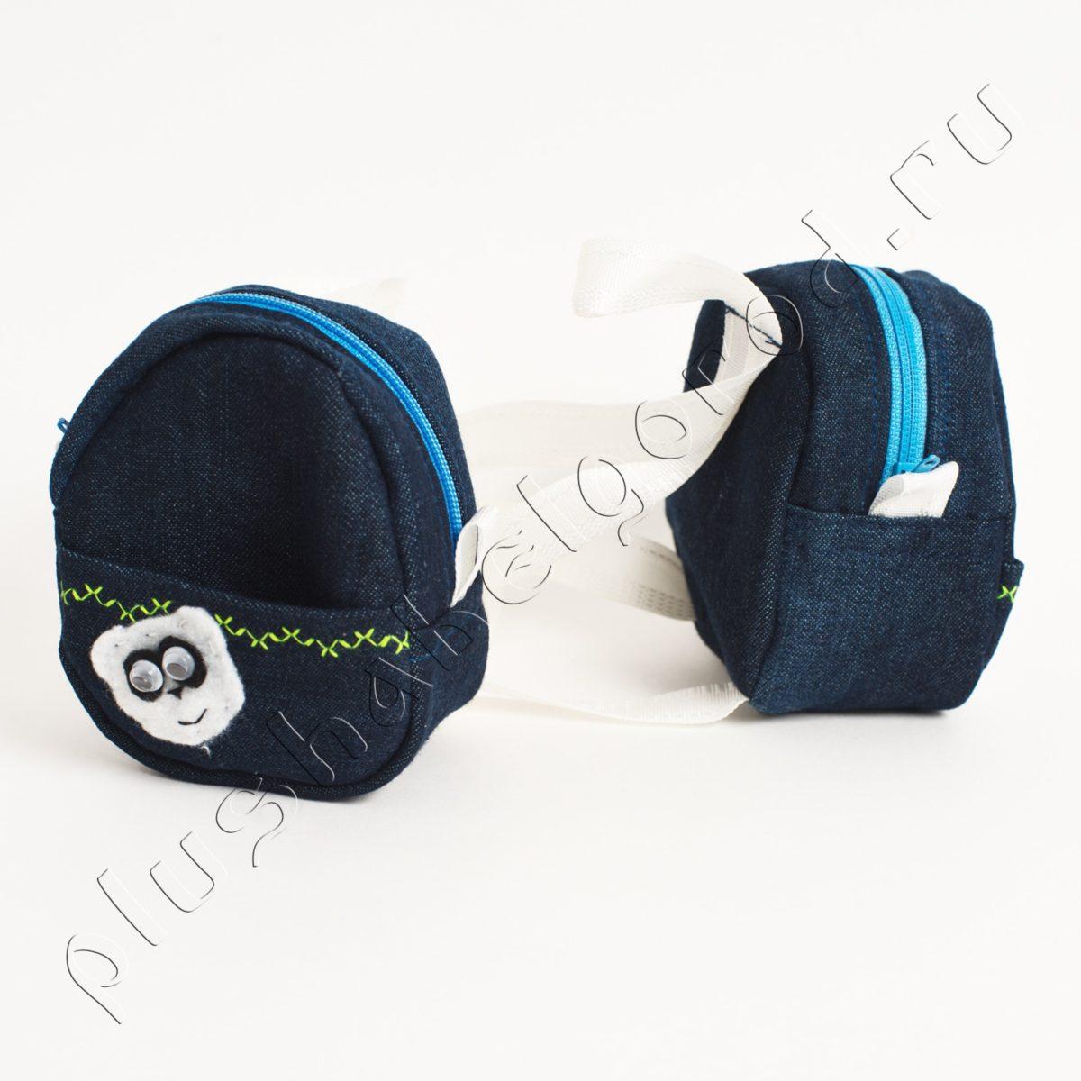 Рюкзачок джинсовый с пандой, цена за штуку