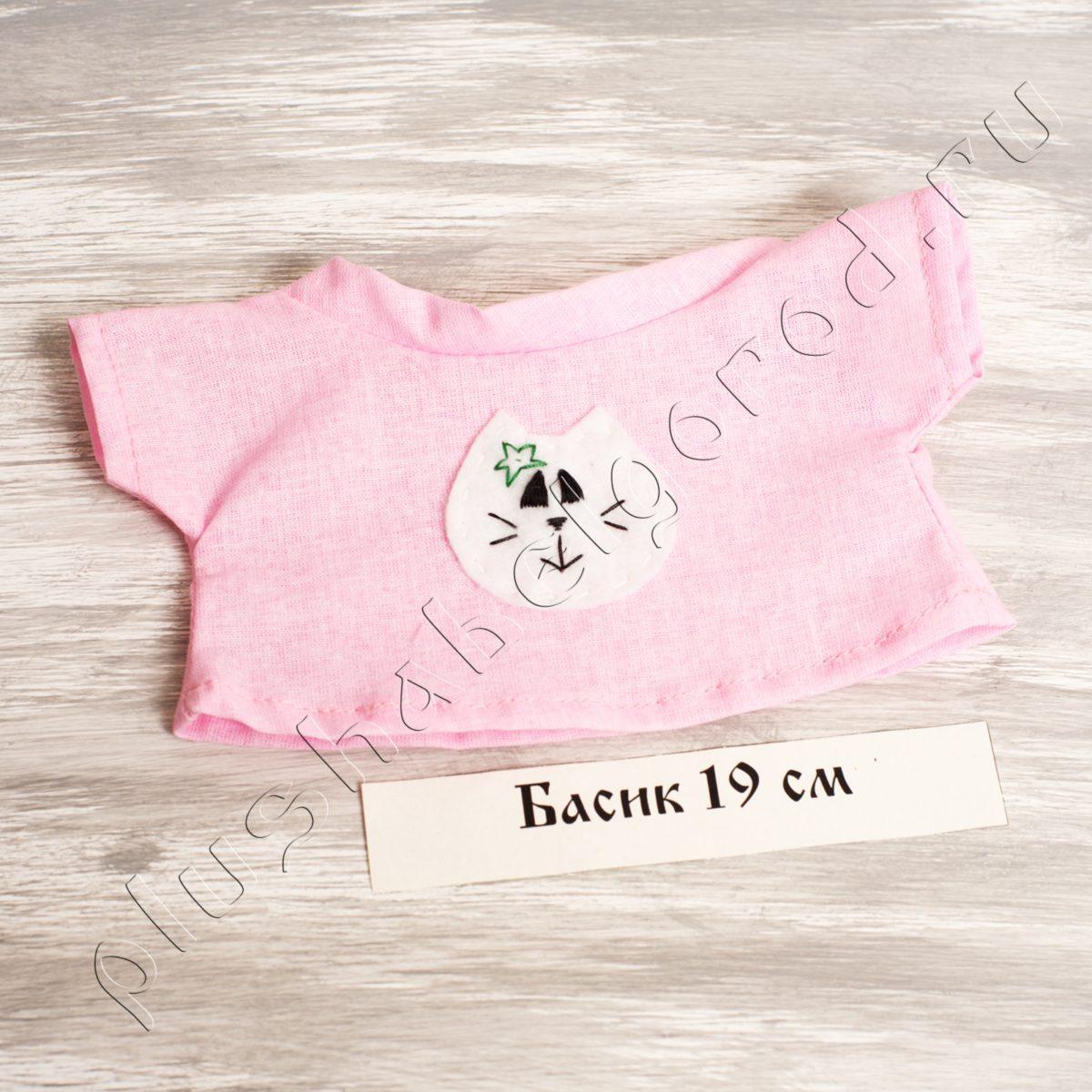 Футболка розовая с котиком (19)
