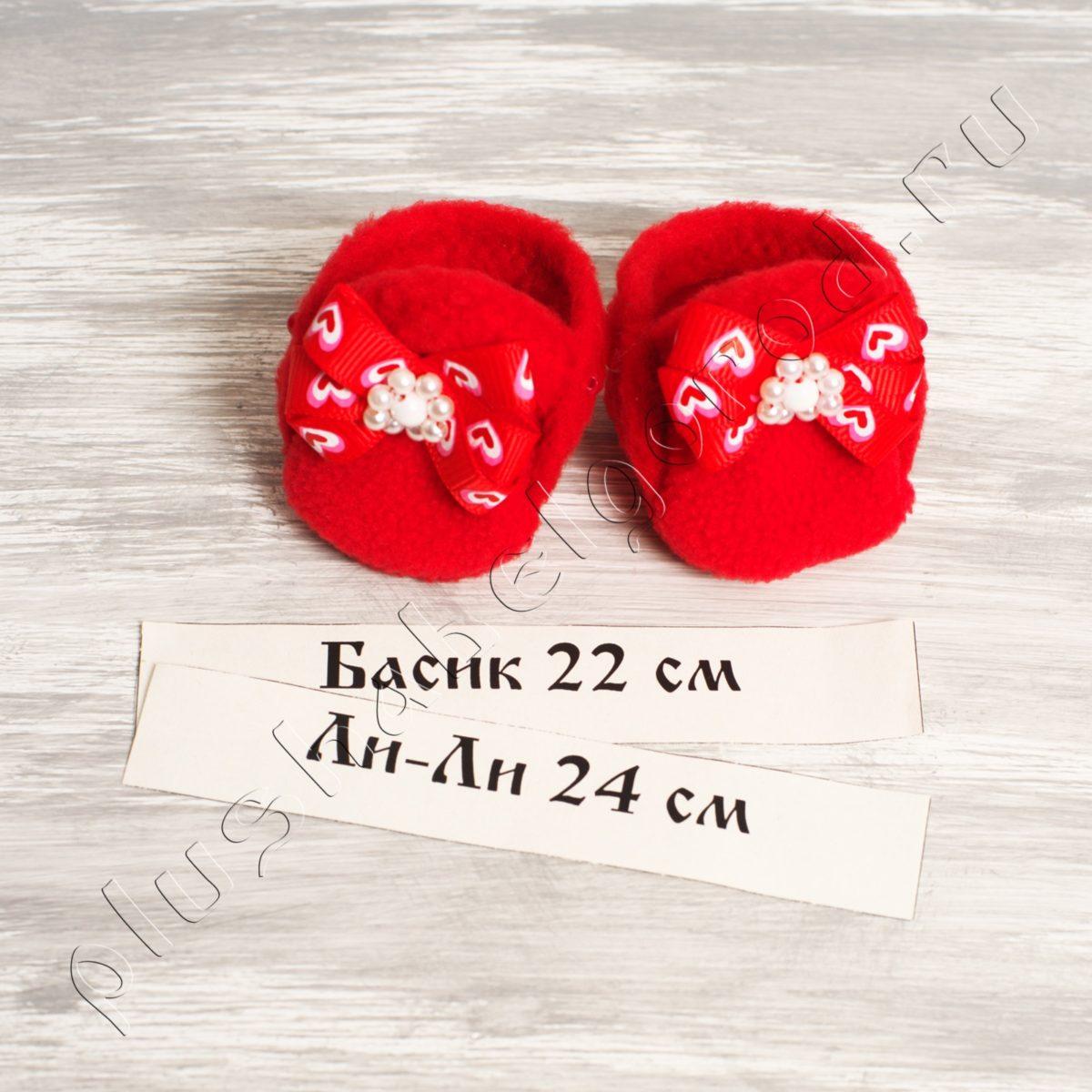 Обувь красная с бантиками (22,24)