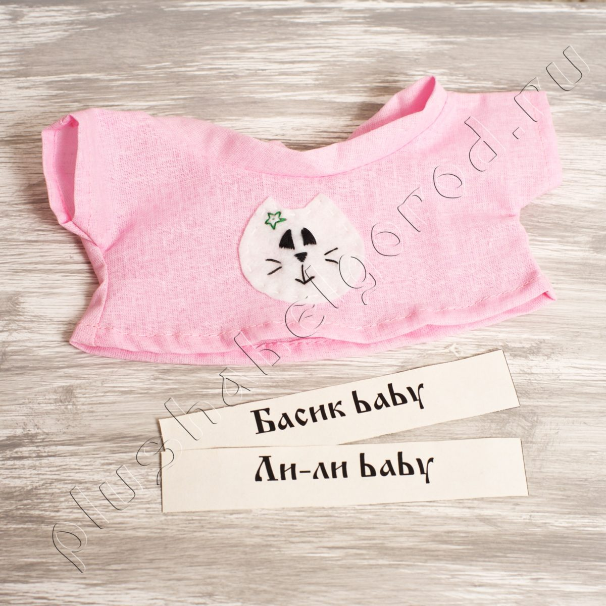 Футболка розовая с котиком (baby)