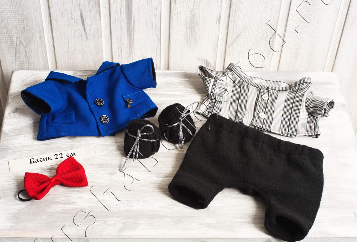 Костюм: пиджак, рубашка, брюки, обувь, бабочка