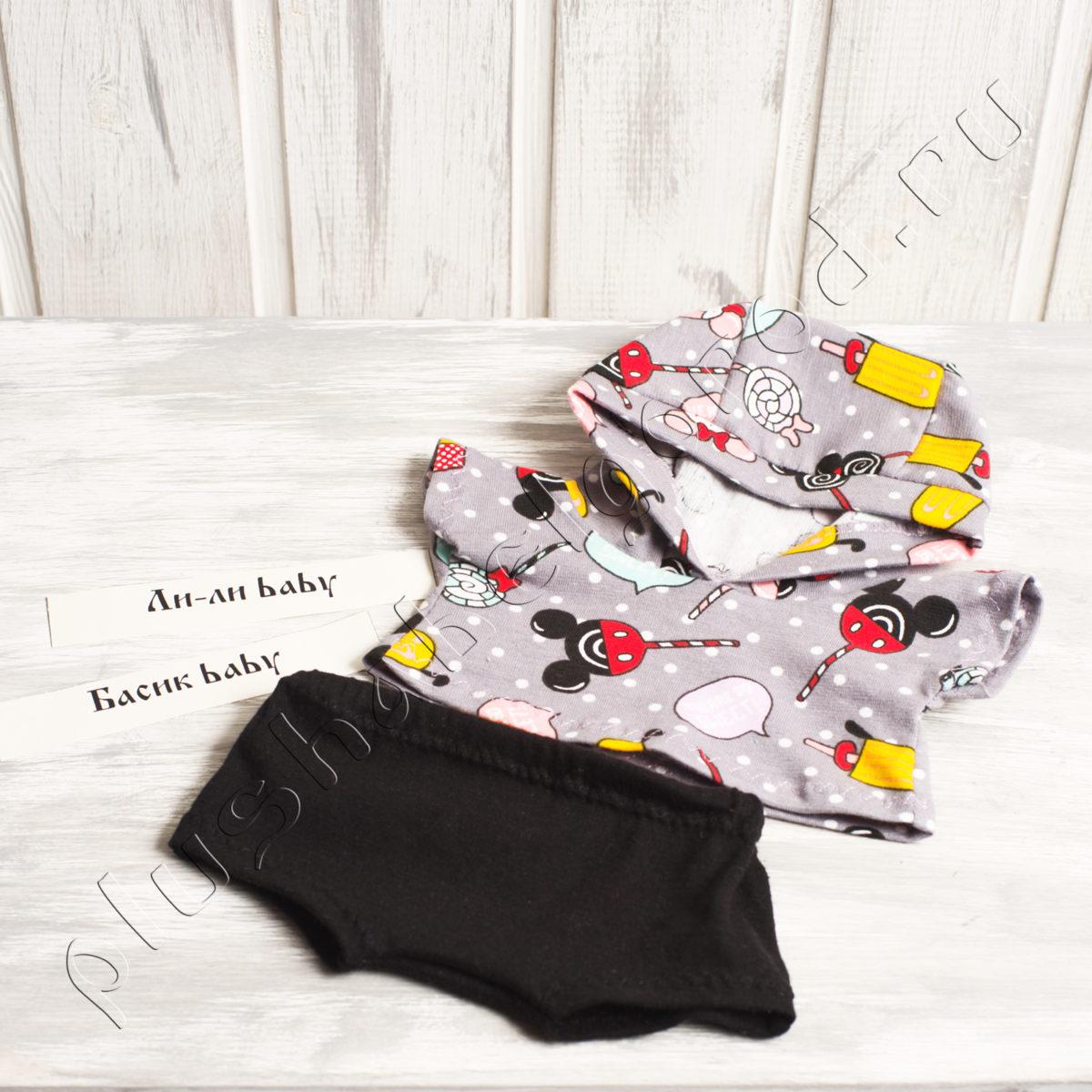 Футболка с капюшоном и шорты (baby)