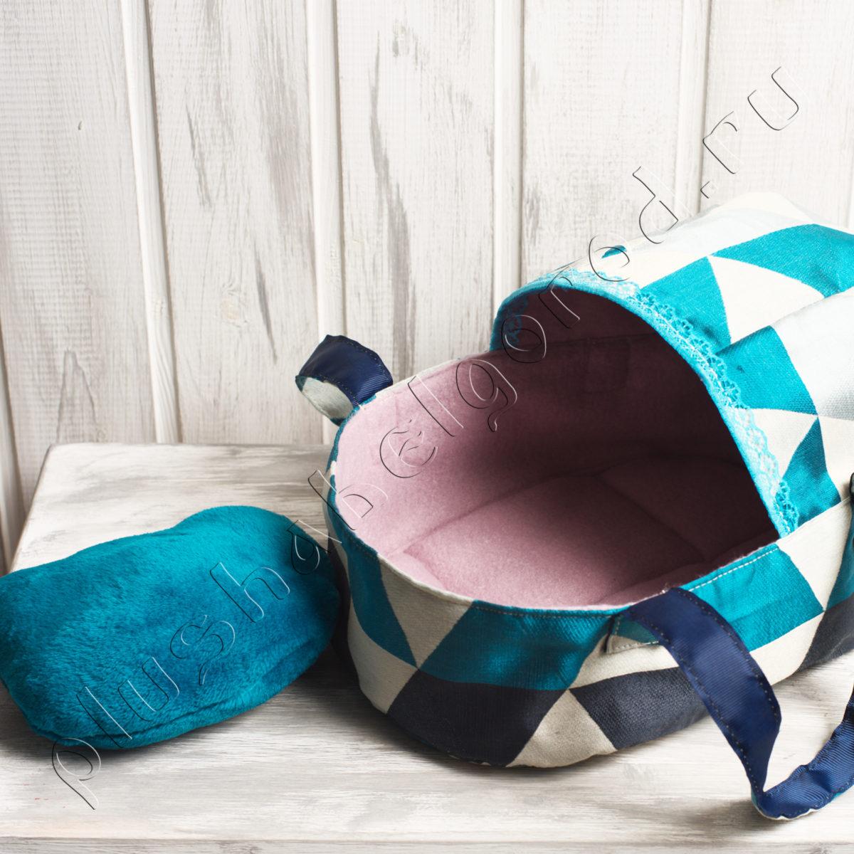 Сумка- переноска разноцветная с подушечкой
