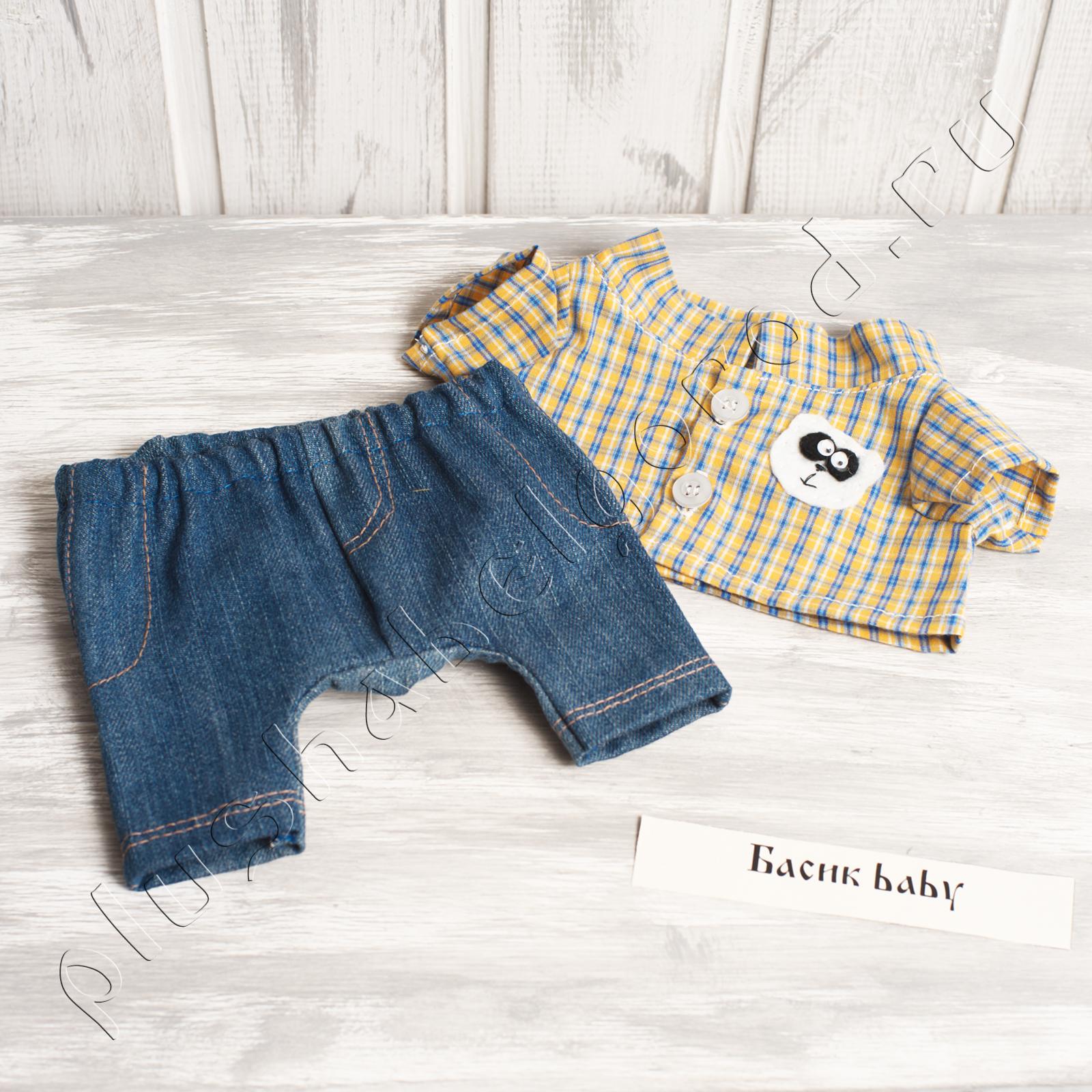 Джинсы и рубашка с пандой( baby)