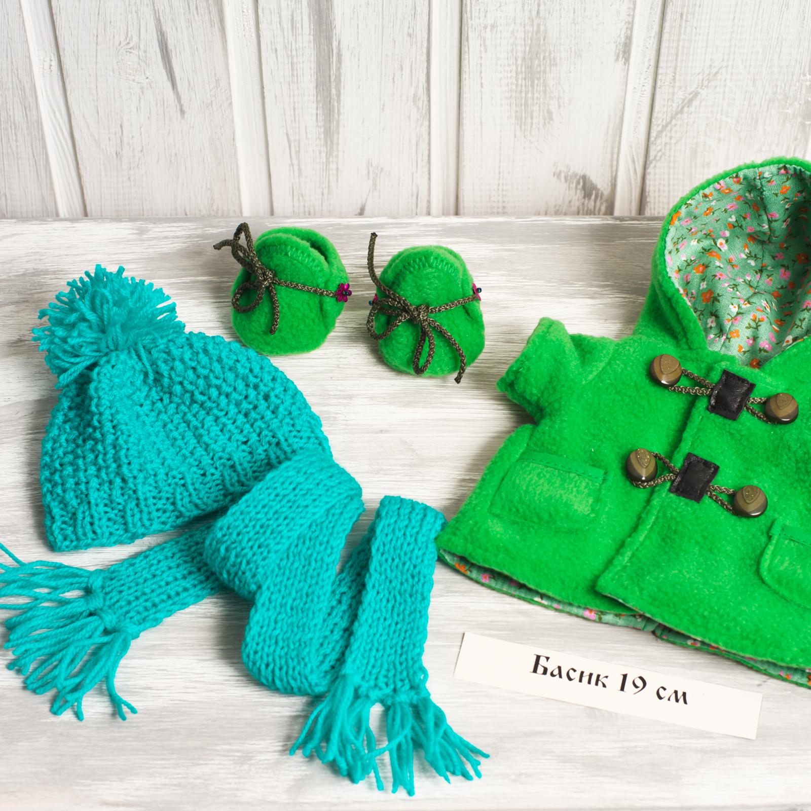 Акция, вместо 1050₽! Пальто зелёное, Обувь, шапочка и шарф