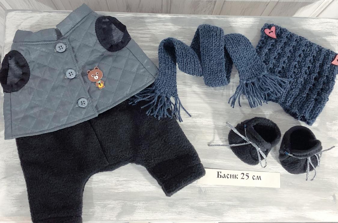 Брюки, жилет, шапка, шарф, Обувь