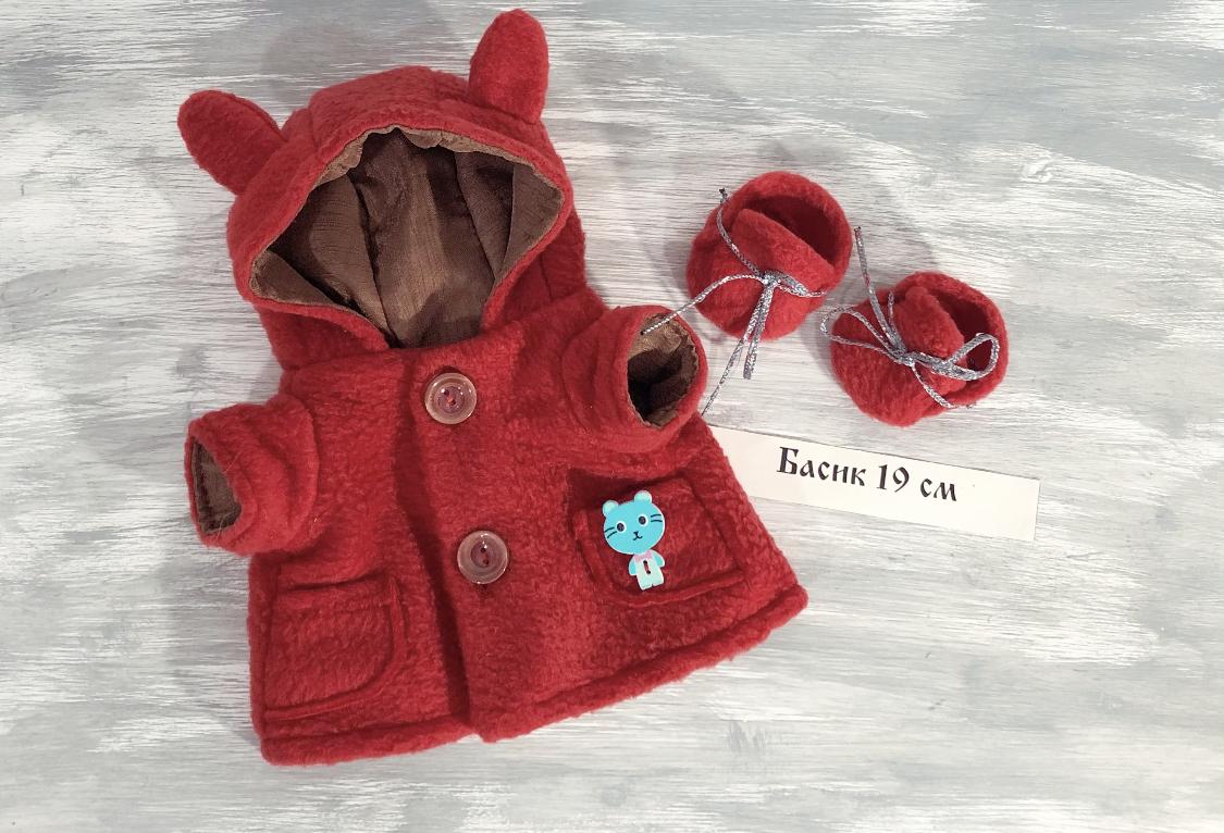 Пальто красное и обувь
